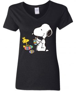 Peanuts Snoopy Easter Egg Women's V-Neck T-Shirt