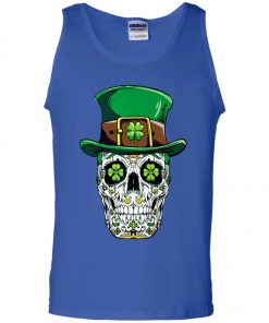 Irish Sugar Skull St Patrick's Day Tank Top