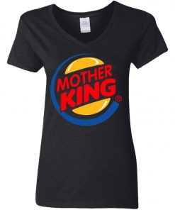 Burger King For Mother V-Neck T-Shirt
