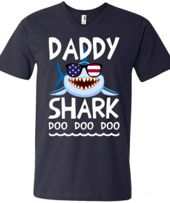 American Daddy Shark Doo Doo Doo V-Neck T-Shirt