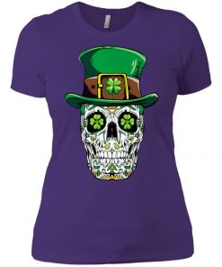 Irish Sugar Skull St Patrick's Day Women's T-Shirt