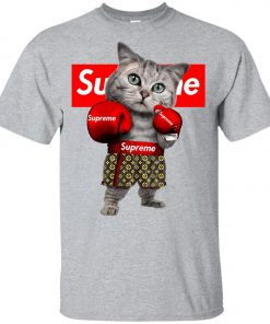 Supreme Boxing Cat Funny Youth T-Shirt