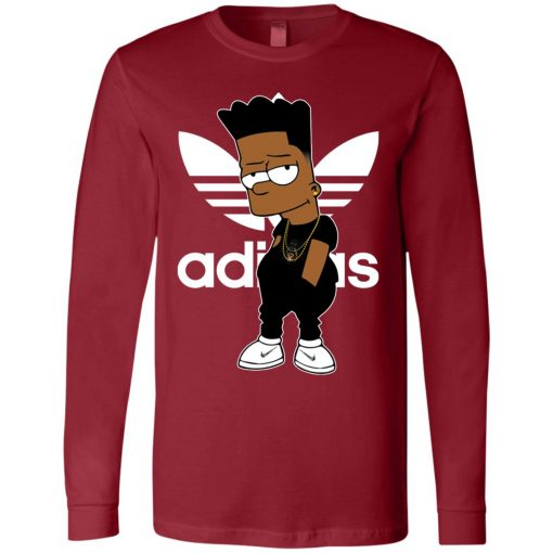 Adidas Bart Simpson Black Guy Long Sleeve