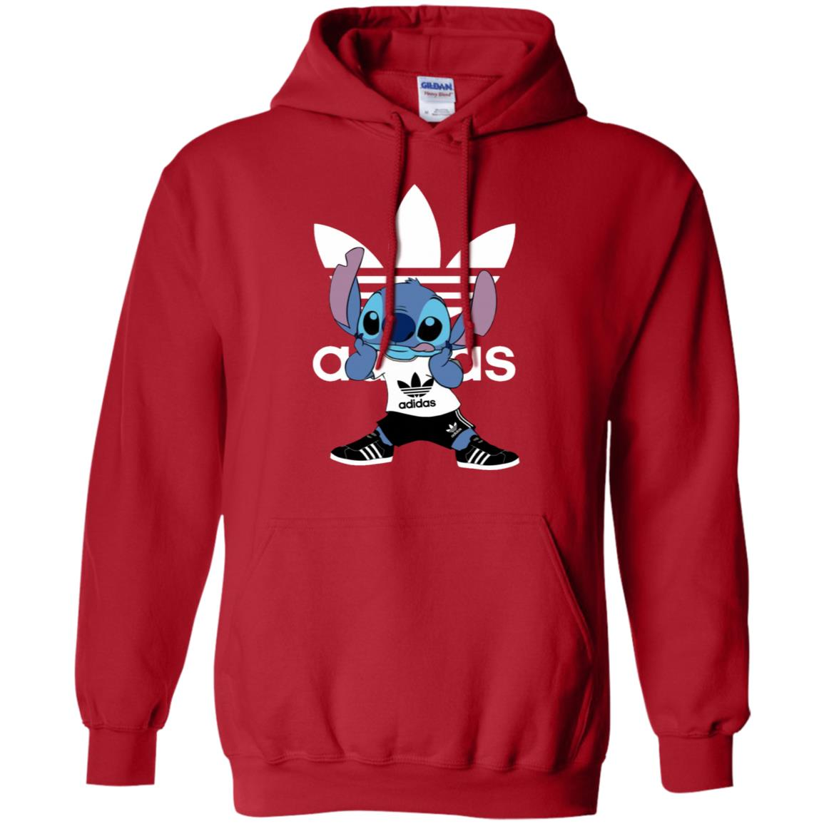 best service bc186 e87ce Funny Stitch Adidas Pullover Hoodie