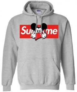 Mickey Mouse Middle Finger Supreme Pullover Hoodie