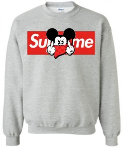 Mickey Mouse Middle Finger Supreme Sweatshirt