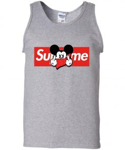 Mickey Mouse Middle Finger Supreme Tank Top