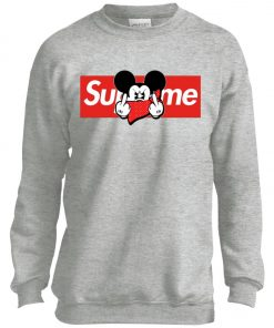 Mickey Mouse Middle Finger Supreme Youth Sweatshirt