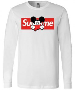 Mickey Mouse Middle Finger Supreme Long Sleeve