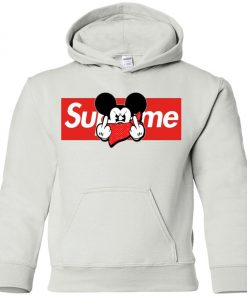 Mickey Mouse Middle Finger Supreme Youth Hoodie