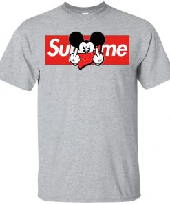Mickey Mouse Middle Finger Supreme Youth T-Shirt