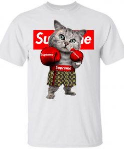 Supreme Boxing Cat Funny Unisex T-Shirt