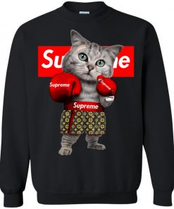 Supreme Boxing Cat Funny Sweatshirt