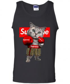Supreme Boxing Cat Funny Tank Top