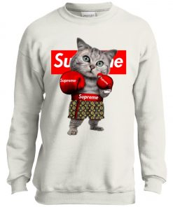 Supreme Boxing Cat Funny Youth Sweatshirt