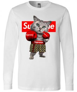 Supreme Boxing Cat Funny Long Sleeve
