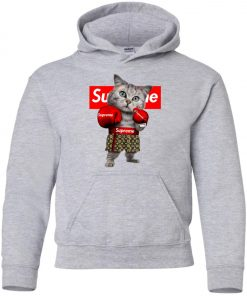 Supreme Boxing Cat Funny Youth Hoodie