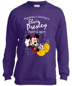 Mickey Listens To Elvis Presley Youth Sweatshirt