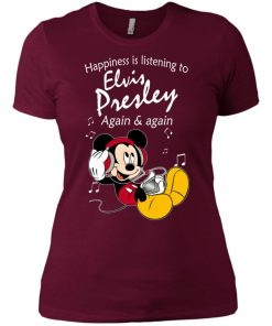 Mickey Listens To Elvis Presley Women's T-Shirt