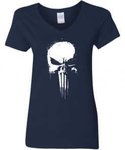 Marvel Punisher Women's V-Neck T-Shirt