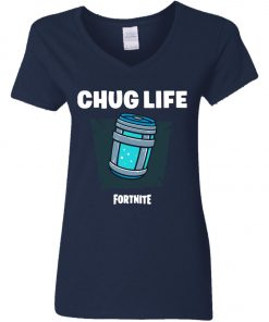 Chug Life Fortnite Women's V-Neck T-Shirt