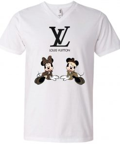 Louis Vuitton Mickey And Minnie V-Neck T-Shirt
