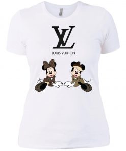 Louis Vuitton Mickey And Minnie Women's T-Shirt