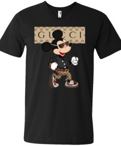 Stylist Gucci Mickey Mouse V-Neck T-Shirt