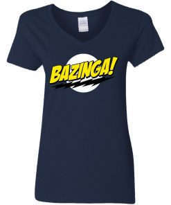 Bazinga Big Bang Theory Women's V-Neck T-Shirt