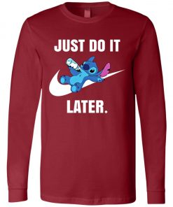 Just Do It Later Disney Stitch Long Sleeve