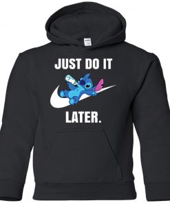 Just Do It Later Disney Stitch Youth Hoodie