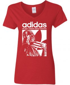 Star Wars Adidas Darth Vader Women's V-Neck T-Shirt