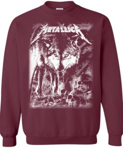 Metallica Of Wolf And Man Sweatshirt
