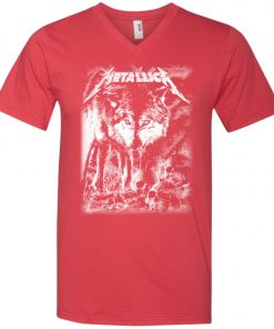 Metallica Of Wolf And Man V-Neck T-Shirt