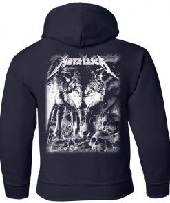 Metallica Of Wolf And Man Youth Hoodie
