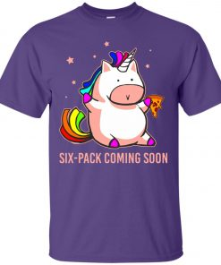Six-Pack Coming Soon Unicorn Unisex T-Shirt