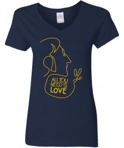 All You Need Is Love John Lennon The Beatles Women's V-Neck T-Shirt