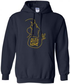 All You Need Is Love John Lennon The Beatles Pullover Hoodie
