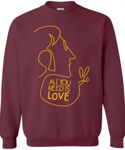 All You Need Is Love John Lennon The Beatles Sweatshirt