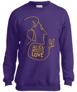 All You Need Is Love John Lennon The Beatles Youth Sweatshirt