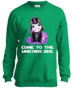 Unicorn Come To The Dark Side Star Wars Youth Sweatshirt