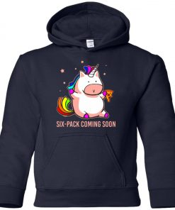 Six-Pack Coming Soon Unicorn Youth Hoodie