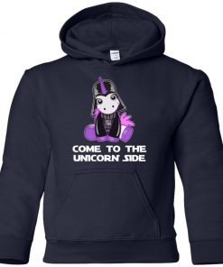 Unicorn Come To The Dark Side Star Wars Youth Hoodie