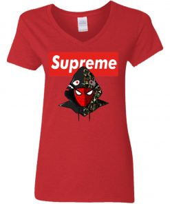 Supreme Hypebeast Spider Man Women's V-Neck T-Shirt