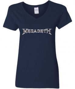 Rock Band Logo Megadeth Women's V-Neck T-Shirt