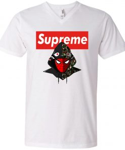 Supreme Hypebeast Spider Man V-Neck T-Shirt