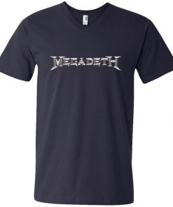 Rock Band Logo Megadeth V-Neck T-Shirt