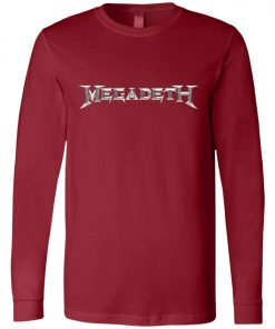 Rock Band Logo Megadeth Long Sleeve