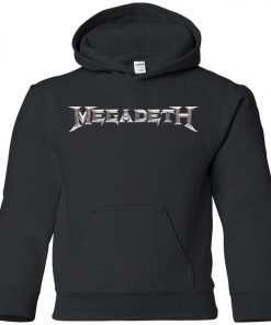 Rock Band Logo Megadeth Youth Hoodie
