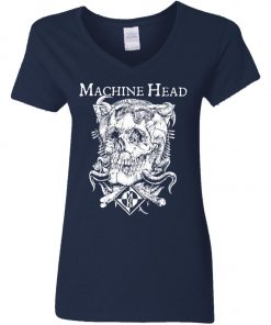 Skull Logo Machine Head Women's V-Neck T-Shirt